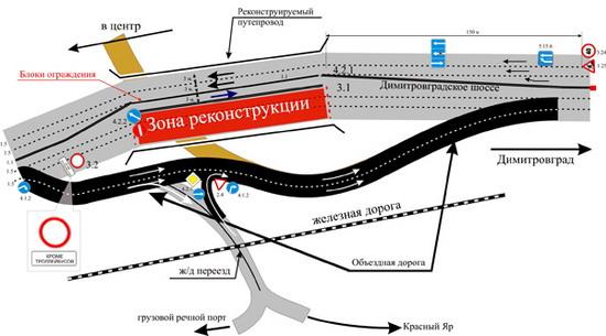 Схема объездной дороги на