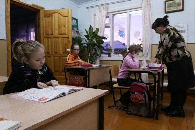 Деревня Бобровка в Омской области