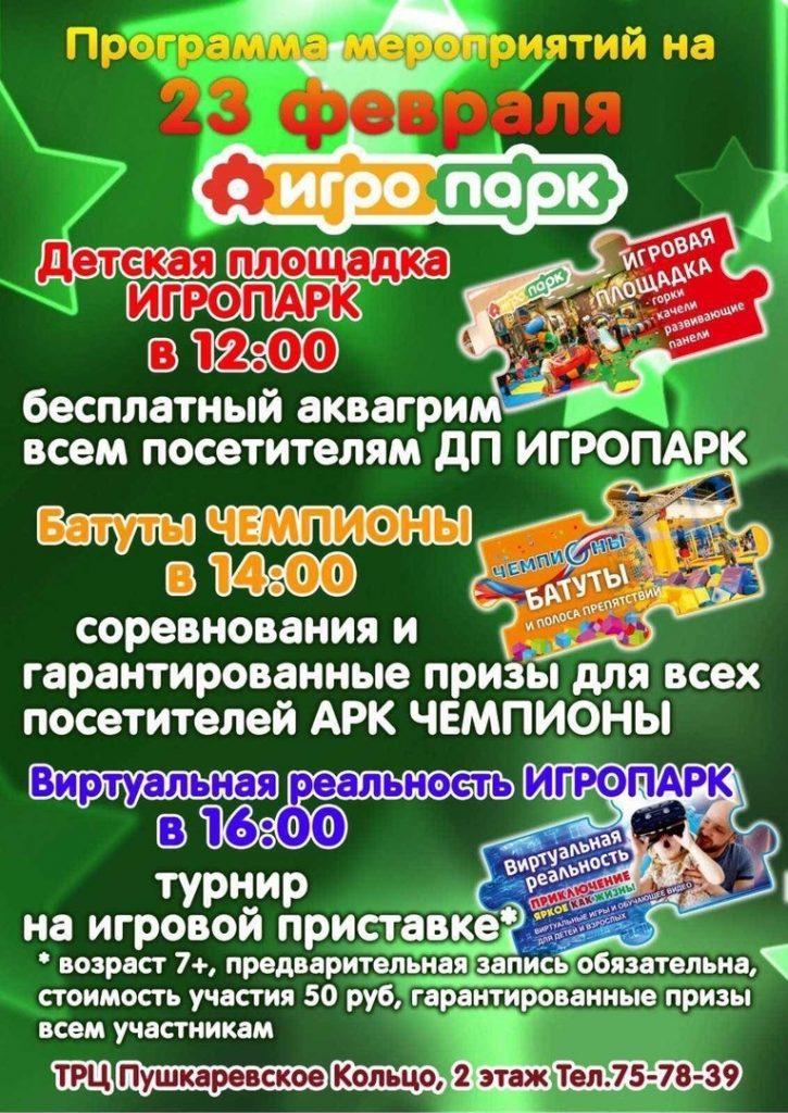 Развлекательная программа ко Дню защитника Отечества в