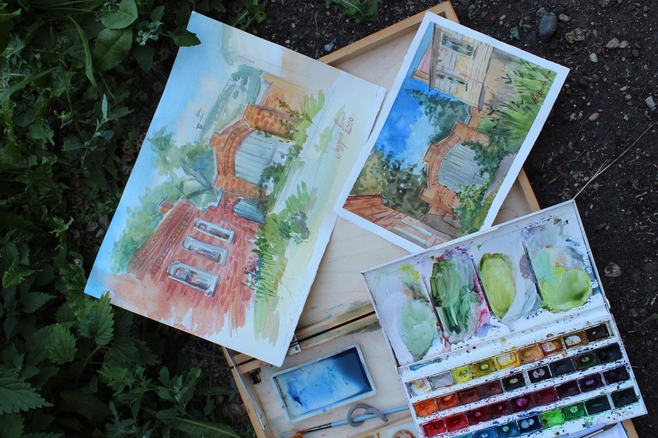"""Тренинг по основам изобразительного искусства """"Ëжики на карантине"""" @ во дворике МЦСИ  (  ул. Ленина, 83 )"""