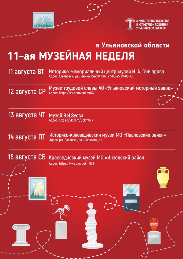 Одиннадцатая акция проекта «Музейные недели в Ульяновской области»