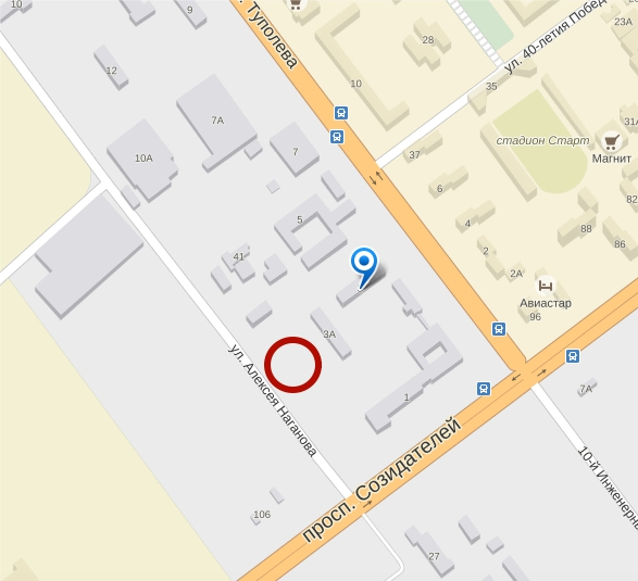 проспект Туполева 3 б площадью