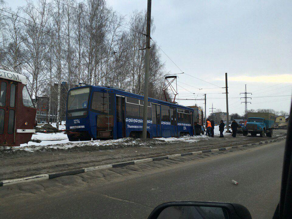 ДТП страмваями вУльяновске участились из-за изношенности рельсов