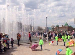 Открытие сезона городских фонтанов @ Площадь 100-летия со дня рождения В.И.Ленина