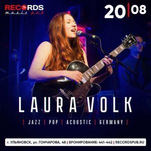 Концерт исполнительницы Laura Volk (Germany) | в Records Music Pub @ Records Music Pub ( Гончарова 48 )