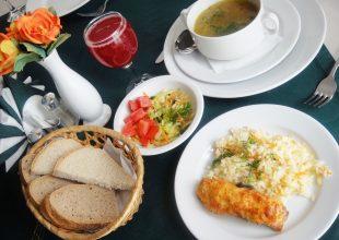 """12:00-15:00 ресторан """"Дворянская усадьба"""". От 150 до 230р"""
