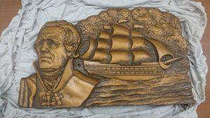 Торжественное открытие памятника адмиралу российского флота Фёдору Ушакову @ аллея Славы парка «Победа»