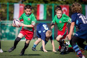 Турнир по детскому регби среди команд 2006-07 и 2008-09 годов рождения @ ФОК «Орион» (б-р Львовский, д. 10А)