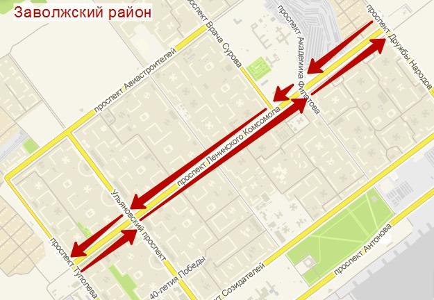 Карта Ульяновска улицы, дома и