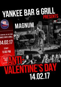 "ANTI-VALENTINES DAY. Выступление группы ""MAGNUM"" @ YANKEE Bar & Grill"
