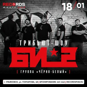 Концерт - трибьют БИ-2 @ «Records Music Pub» (ул. Гончарова, 48)