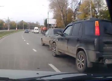 Ульяновские автоподставщики попали на камеру видеорегистратора. Видео - Google Chrome