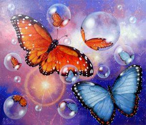 Мастер-класс по живописи. Тема: бабочки @ Дом свободного искусства Arca FreeDOM, большой зал (ул. Радищева, д.6, 2 этаж, вход с левой стороны здания, вторая дверь)