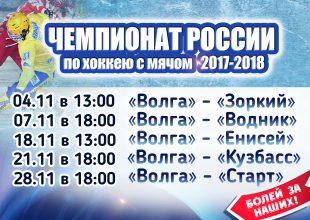 Чемпионат России по хоккею с мячом 2017-2018. «Волга» — «Кузбасс»