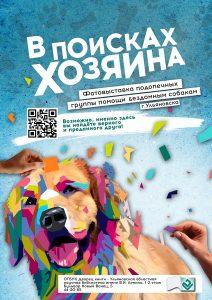 Фотовыставка подопечных группы помощи бездомным собакам «В поисках хозяина» @ Лестничный пролёт Дворца книги (Бульвар Новый венец, д.5)