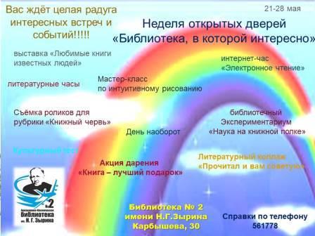 """Акция """"Библиотека, в которой интересно"""" @ Библиотека №2 авиационно-космическая библиотека им. Н. Г. Зырина"""