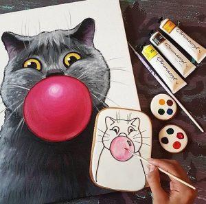 Арт-вечеринка в Котокафе @  Теплый кот котокафе, тайм-кафе ул. Радищева, 86