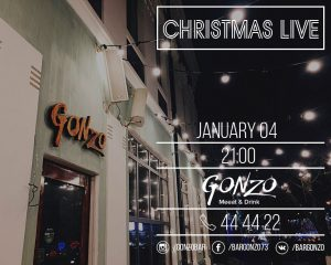 "Выступление Оксаны Моисеевой с праздничной программой ""Christmas live"" @ Gonzo Bar (ул. Гончарова, д. 48)"