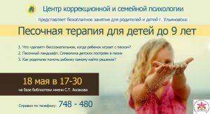 Семейный клуб «Осознанные родители». Тема - «Песочная терапия для детей до 9 лет» @ Ульяновская областная библиотека для детей и юношества имени С.Т. Аксакова (ул. Минаева, 48)