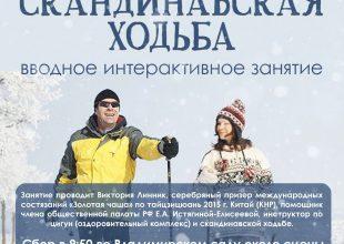 Вводное интерактивное занятие по скандинавской ходьбе