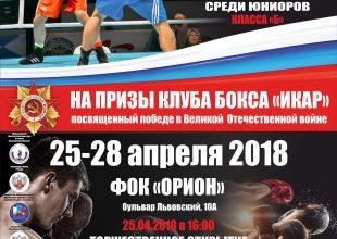 XVII Всероссийский турнир по боксу класса «Б» среди юниоров на призы клуба бокса «Икар»