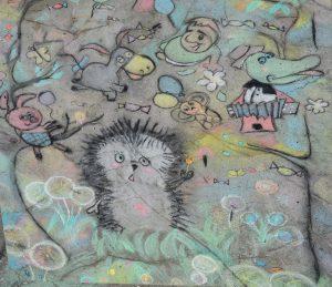 II региональный фестиваль-конкурс детского творчества «Street art – рисунок на асфальте», посвященный Году экологии @ Ул.Матросова, д. 11
