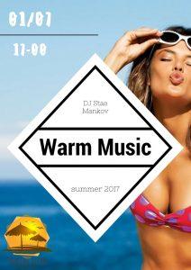"""Вечеринка """"Warm Music"""" @ Центральный пляж """"Золотые пески"""""""